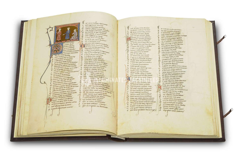 ILLUMINATED FACSIMILES®, Belser Verlag – Rosenroman des Berthaud D'Achy – photo 02, copyright Illuminated Facsimiles